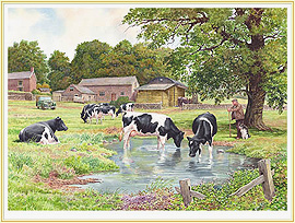 Farmer's Pride - a classic Cow Picture - click for details