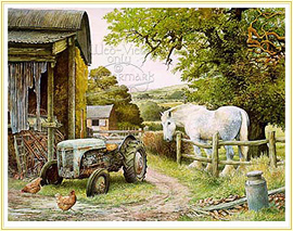Into Retirement - a classic subject for a Farming Picture - click for details